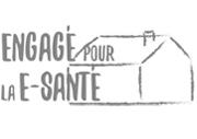 Logo engagé pour la e-santé-nb